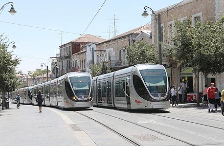 רכבת קלה ב ירושלים, צילום: אלכס קולומויסקי