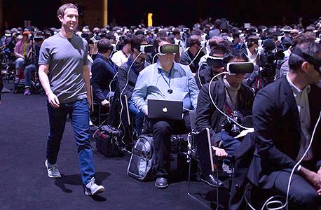 מארק צוקרברג ברצלונה מציאות מדומה VR, צילום: imgur