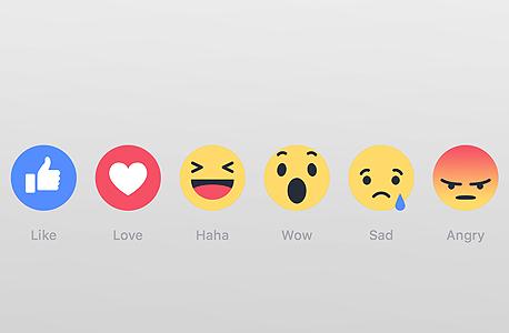 כפתורי תגובה פייסבוק Reactions באנגלית