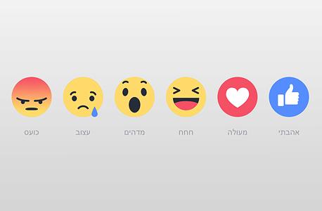 כפתורי תגובה פייסבוק Reactions בעברית