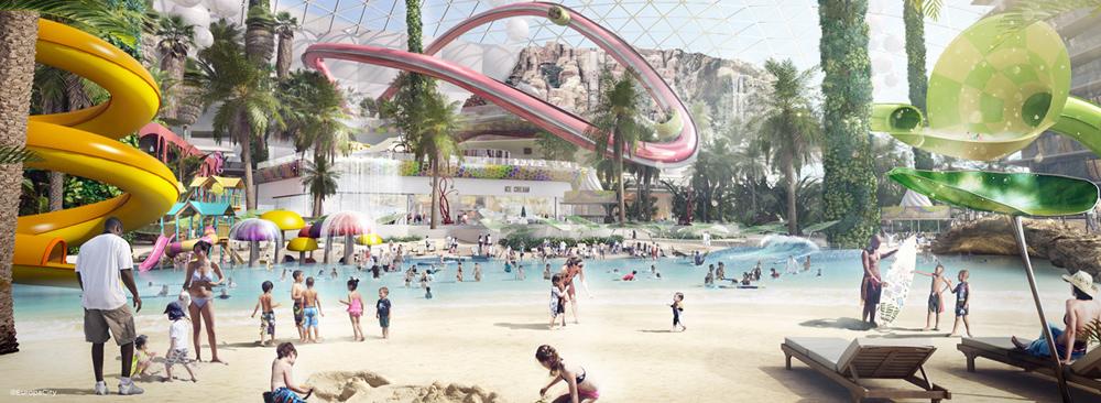פארק השעשועים יהיה רק חלק קטן מהאתר הענק