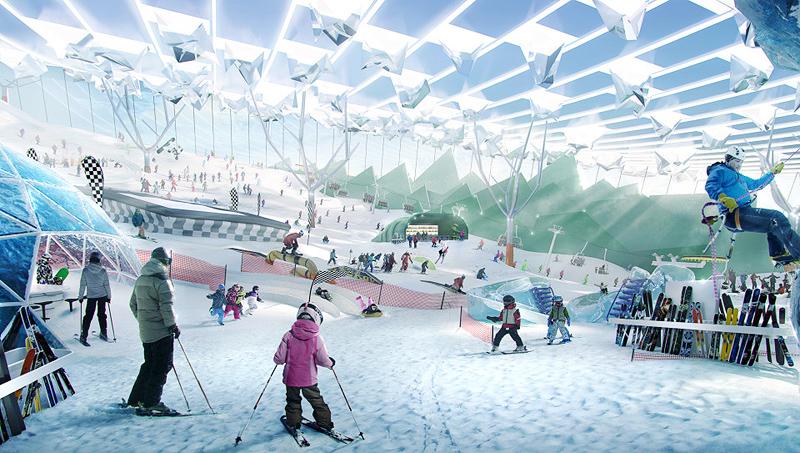 אולם סקי סגור יאפשר גלישה כל השנה