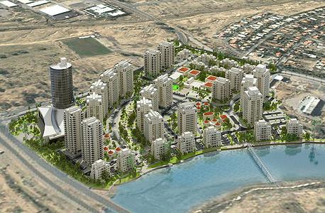 הדמיית הפרויקט של צרפתי ואביסרור. שכונה חדשה סמוכה לנווה נוי