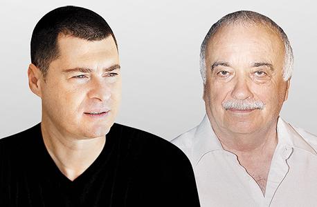 מימין אליעזר פישמן איש עסקים ו זוהר לוי בעל השליטה ב חברת הנדלן סאמיט, צילום: אוראל כהן
