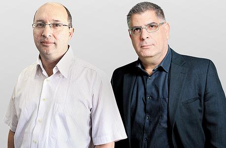 """מימין גבי טרבלסי מגה ו אבי ניסנקורן יו""""ר ההסתדרות, צילום: עמית שעל, אוראל כהן"""
