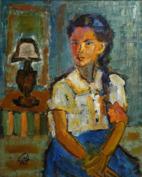 בתו של הצייר, נילי, בילדותה