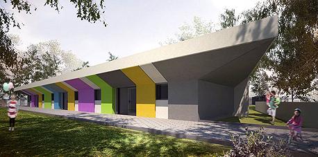 גן ילדים בטורעאן שתכנן איימן טבעוני