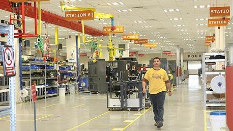 HP-Indigo's manufacturing plant in Kiryat Gat, Israel