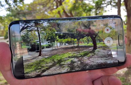 גלקסי S7 אדג' סמסונג סמארטפון, צילום: הראל עילם