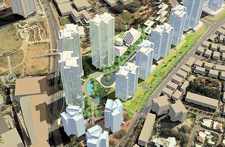 הדמיית השכונה החדשה ברחוב ההסתדרות בגבעתיים