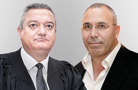 """מימין מנכ""""ל בזן דאז פנחס בוכריס והשופט חאלד כבוב, צילומים: אוראל כהן, עמית שעל"""
