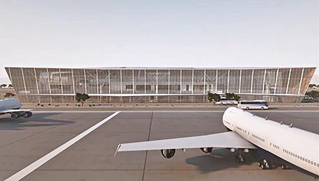 נמל תעופה שדה תעופה תמנע הדמייה, באדיבות: רשות שדות התעופה