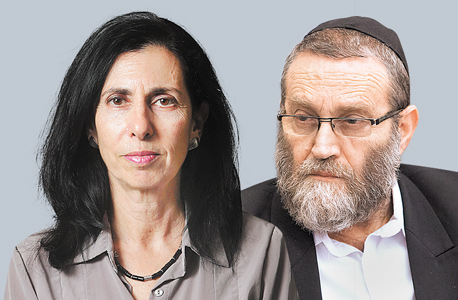 מימין משה גפני ו דורית סלינגר, צילום: אלכס קולומויסקי  ועומר מסינגר