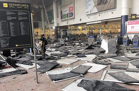 הטרמינל בבריסל שבו התפוצצו המטענים, צילום: רויטרס