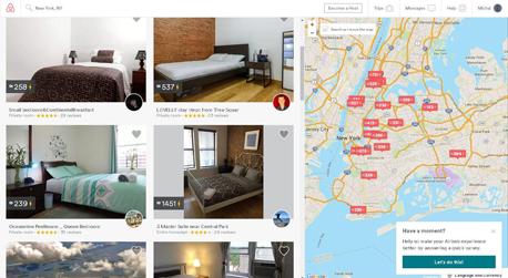 """דירה להשכרה ב-Airbnb. """"התברר שהתמונות של חדרי שינה מזמיני כירבול מושכות הזמנות, והמידע הזה הוטמע באלגוריתם"""", צילום: צילום מסך"""