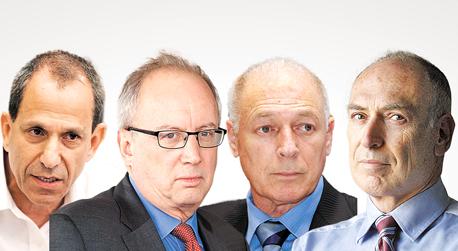 מימין רלי לשם, אמנון ניובך, יוסי ביינארט ושמואל האוזר
