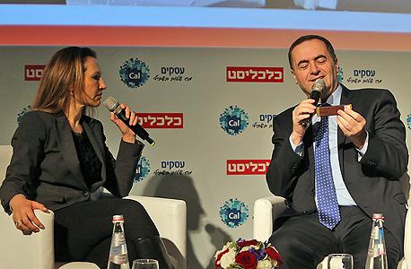 הוועידה לעסקים קטנים 2016 ישראל כץ שר התחבורה גלית חמי עורכת כלכליסט, צילום: צביקה טישלר