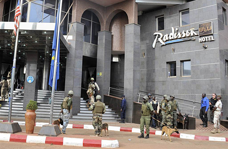 רדיסון בלו מלון מאקו מאלי טרור, צילום: אי פי איי