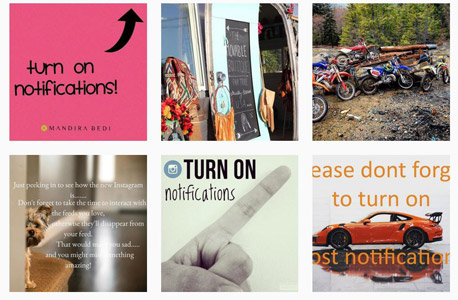 קמפיין בעד נוטיפיקציות, צילום:  instagram.com