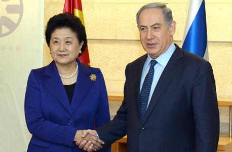 """רה""""מ בנימין נתניהו ו סגנית ר""""מ סין Liu yandong הכריזו על פתיחת שיחות להסכם סחר חופשי בין המדיניות, צילום: חיים צח"""
