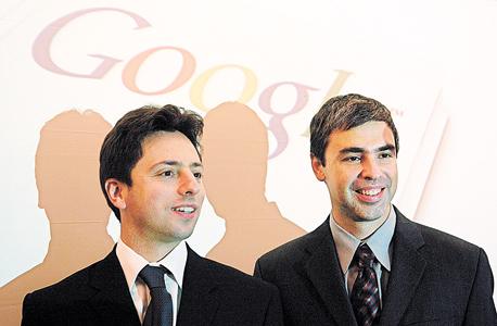 מימין: מייסדי גוגל - לארי פייג