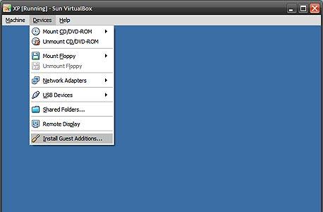התקנת Guest Additions, לשיפור ביצועי המערכת הווירטואלית