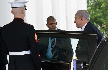 ראש הממשלה בנימין נתניהו מגיע ל בית ה לבן לפגישה עם ברק אובמה, צילום: איי אף פי