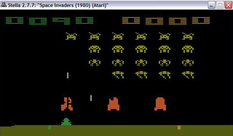 Space Invaders תחת Stella
