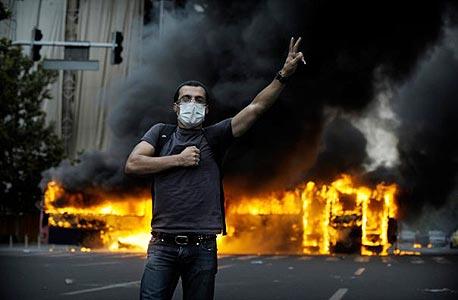 המהומות באיראן ב-2009, צילום: cc-by-Faramarz Hashemi