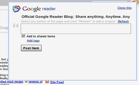 שיתוף מכל מקום עם היישומניה של גוגל רידר