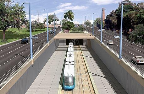 הדמיה של פרויקט הרכבת הקלה בתל אביב