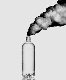 מודעה של עמותת Tappening הקוראת לצריכת מי ברז במקום מים מינרליים. משרד הפרסום: DiMassimo Goldstein