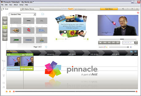 עריכת וידאו עם Pinnacle VideoSpin