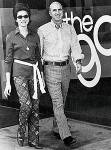 דונלד פישר ואשתו דוריס, מייסדי גאפ, צילום: בלומברג