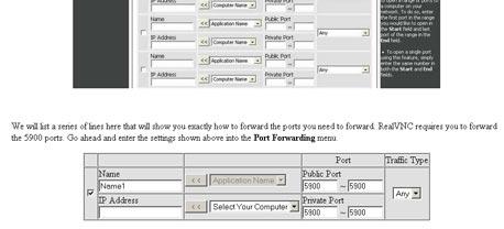 דוגמה למדריך פתיחת פורט, באתר Port Forward