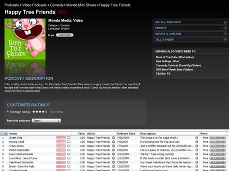 עמוד פודקאסט ב-iTunes Store