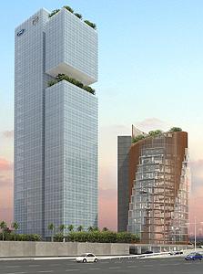 מגדל משרדים המתוכנן במתחם החרש