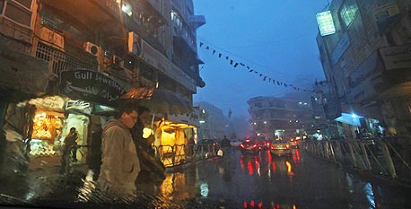 רחוב ברמאללה. רוב השגרירים לרשות הפלסטינית גרים בעיר