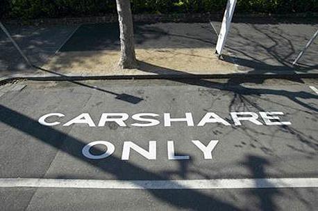 דוגמא לחניה שמורה לשיתוף הרכבים