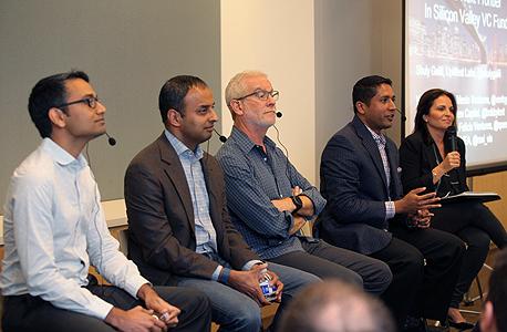 פאנל המשקיעים ב-Upwest Labs, צילום: עמית שעל