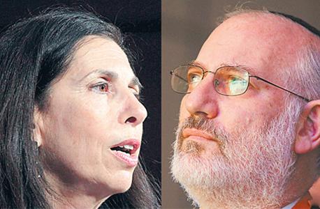 מימין אדוארדו אלשטיין בעל השליטה באי די בי ו דורית סלינגר המפקחת על הביטוח, צילומים: עמית שעל