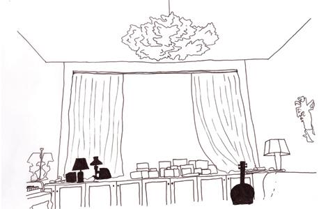 סקיצה ל־soma בחדר המוזיקה בביתו של הזמר פול סיימון