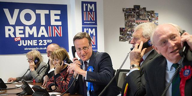 ראש ממשלת בריטניה דיויד קמרון מגייס תומכים להישארות באיחוד, צילום: איי אף פי