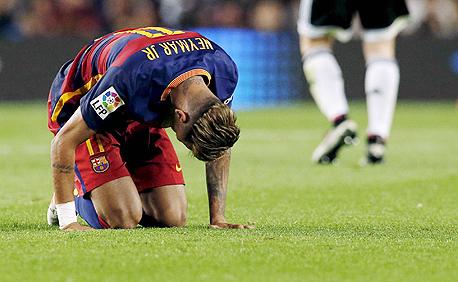 ניימאר ברצלונה מתקשה, צילום: רויטרס