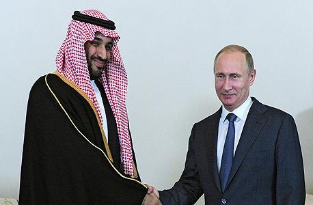 נשיא רוסיה ולדימיר פוטין עם הנסיך מוחמד בין סלמאן