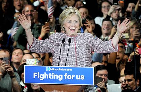 הילרי קלינטון מנצחת בפריימריז ב ניו יורק, צילום: אם סי טי