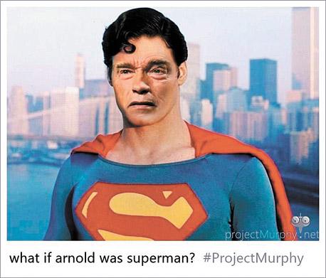 הבוט משלב בין ארנולד שוורצנגר לסופרמן