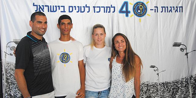 הטניסאים רם קאפח ואלונה פושקרבסקי זכו במלגת קהאן בסך 200 אלף שקל