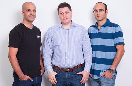 Forter founders (left tyo right) Alon Shemesh, Michael Reitblat, and Liron Damri. Photo: Forter