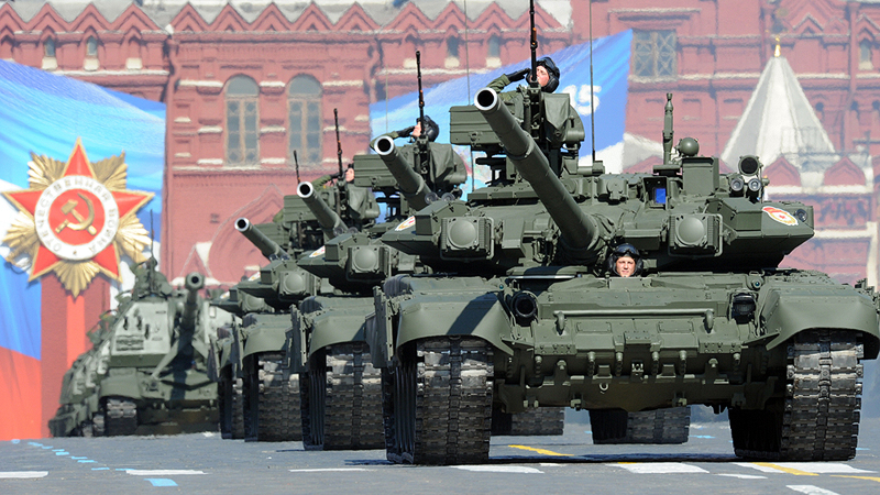 טנקים בצבא רוסיה. הציגה בשנה האחרונה את יכולתה לשלוח את כוחותיה למדינות אחרות, בהן סוריה
